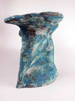 Skulptur, Steinzeug, Mehrfachbrand, 1230°C/1050°C, 35×34×25, 4. Ansicht