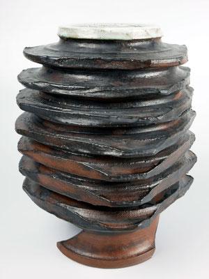 Vase Steinzeug montiert