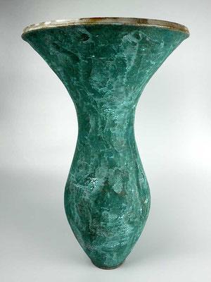 Vase Steinzeug Mehrfachbrand