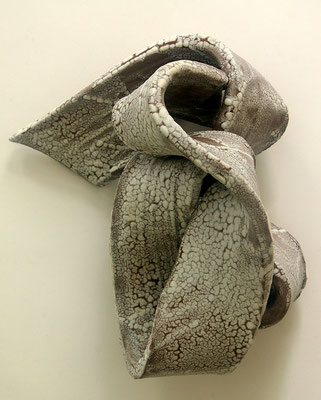 Skulptur, Steinzeug, Mehrfachbrand, 1230°C/1050°C, 40×17×22, 3. Ansicht