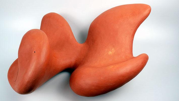 Skulptur roter Ton