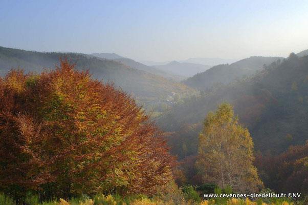 Admirer : la vue sur les Cévennes depuis la petite corniche