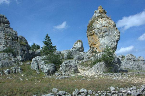 Voir les curiosités naturelles : Chaos de Nîmes le vieux