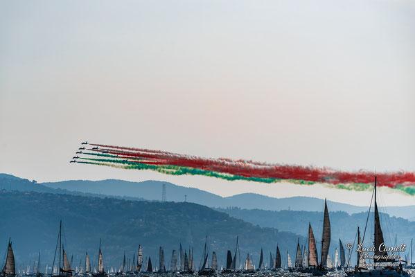 Frecce Tricolori compiono 60 anni. Regata Barcolana50, Trieste (2018). © Luca Cameli Photographer