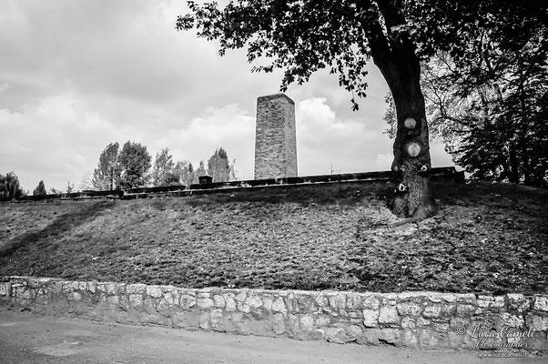 Auschwitz, canna fumaria del forno crematorio. Per Non Dimenticare - 27 Gennaio - Giorno Della Memoria. © Luca Cameli Photographer