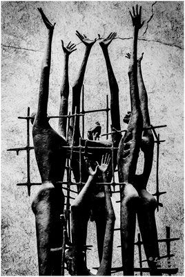 Risiera di San Sabba, Trieste. Monumento di Auschwitz dello scultore Marcello Mascherini. Giorno Della Memoria, 27 Gennaio. © Luca Cameli Photographer