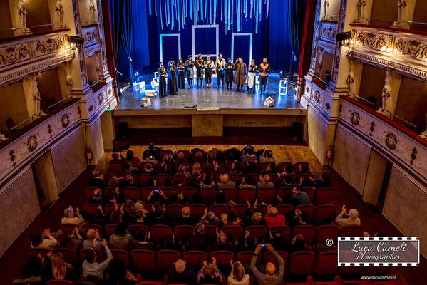 """Teatro Alaleona, Montegiorgio. """"Il Giardino Dei Cigliegi"""" Accademia Di Teatro di Eugenio Olivieri (02/2018). © Luca Cameli Photographer"""