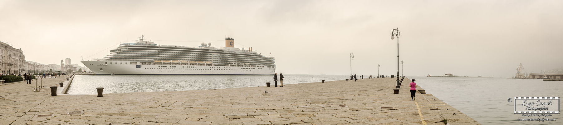 Trieste - Molo Audace, Le Rive, Costa Crociere