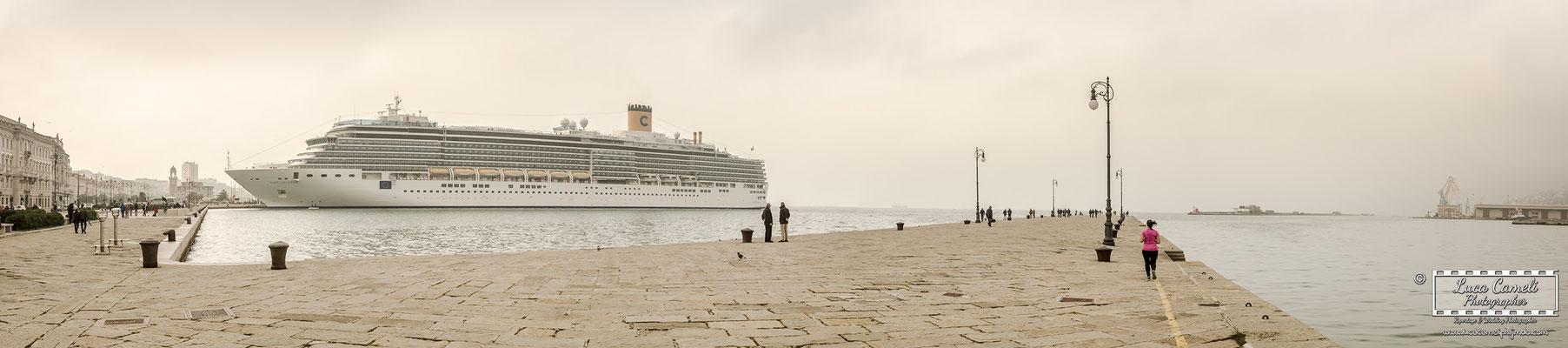 Trieste - Molo Audace, Le Rive, Costa Crociere. © Luca Cameli Photographer