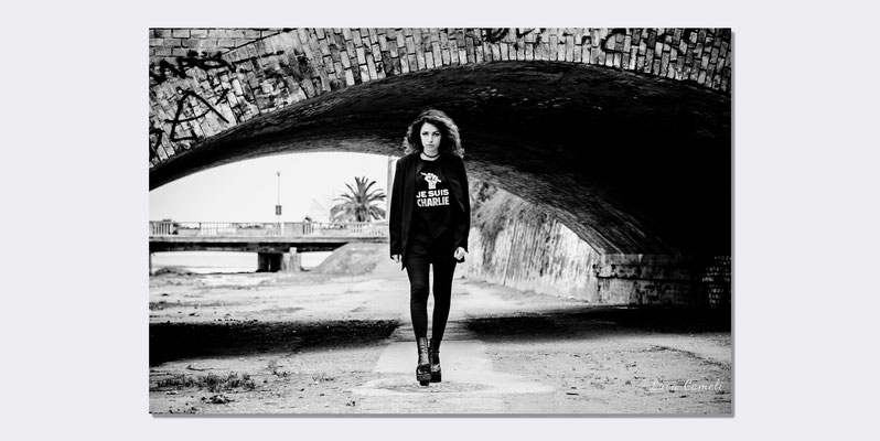 "Giorgia Fiori: ""Je Suis Charlie Hebdo"" - Portraits Photo, San Benedetto del Tronto. © Luca Cameli Photographer"