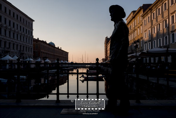 "Trieste - Barcolana50, Canal Grande, Statua James Joyce - ""James Joyce's Sunset"""
