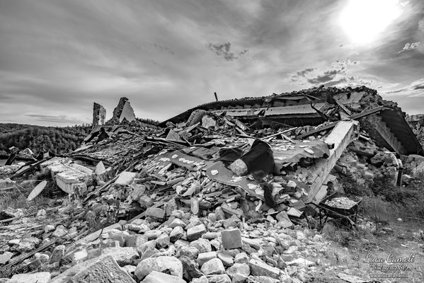 Lo Stato Delle Cose: Terremoto Centro Italia 5 Anni Dopo. Amatrice, zona rossa. © Luca Cameli Photographer