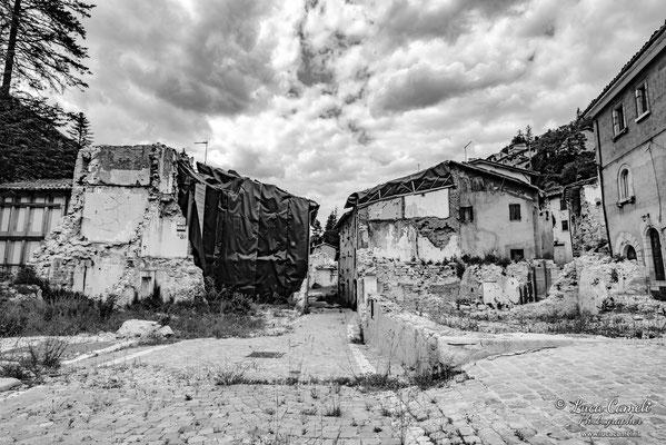 Lo Stato Delle Cose: Terremoto Centro Italia 5 Anni Dopo. Castelsantangelo Sul Nera, zona rossa. © Luca Cameli Photographer