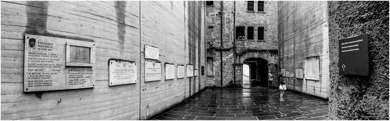 Risiera di San Sabba, Trieste. Sacrario, lastre commemorative marmoree dedicate alle vittime nel lager. Giorno Della Memoria, 27 Gennaio. © Luca Cameli Photographer