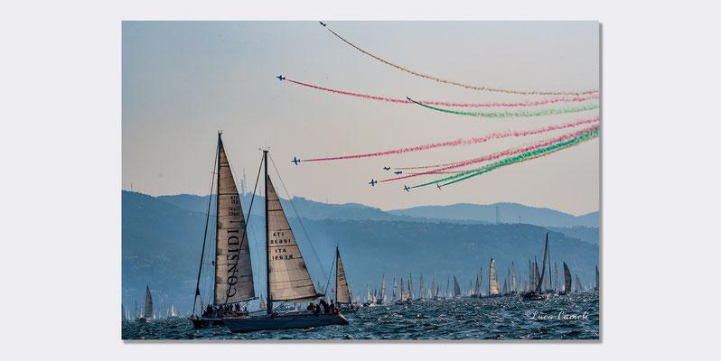Regata Barcolana - Frecce Tricolori, Trieste. © Luca Cameli Photographer