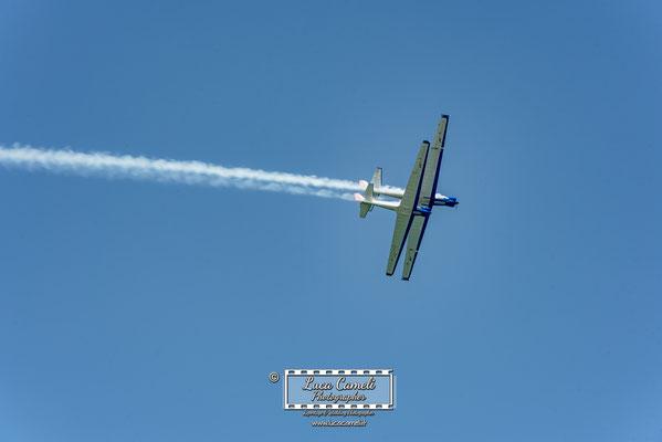 Air Show - Blue Voltige - Pattuglia Acrobatica Di 2 Motoalianti - San Benedetto del Tronto