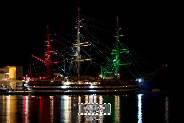 Trieste - Barcolana50, Nave Amerigo Vespucci, Molo dei Bersaglieri