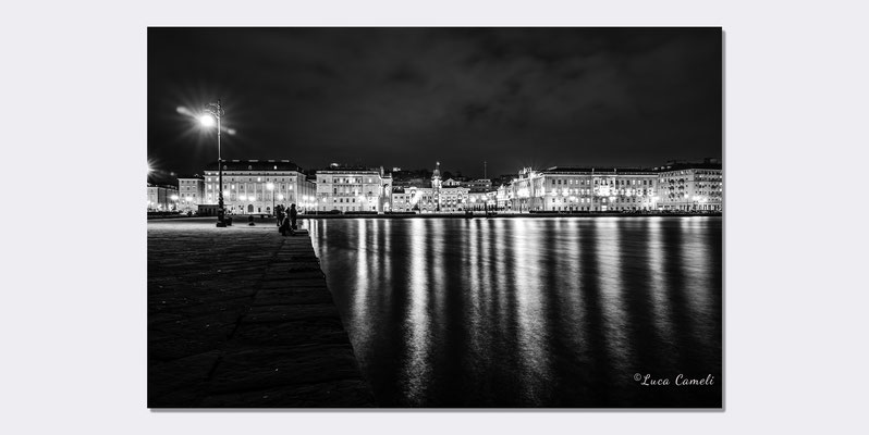 """Trieste Paint It Black"" Trieste - Piazza Unità d'Italia, Molo Audace. © Luca Cameli Photographer"
