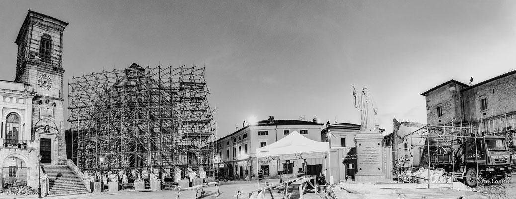 Terremoto Centro Italia. Basilica di San Benedetto da Norcia, dicembre 2016. © Luca Cameli Photographer