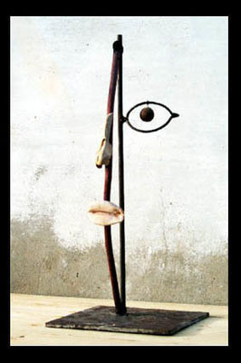 Pied de nez, 50 x 20 x 20 cm, Ghana 2000.