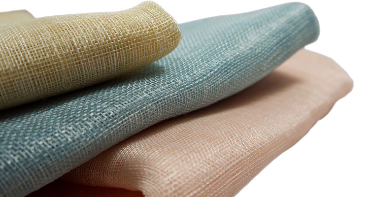 Sinamay in classic colours, pastell and colour gradient