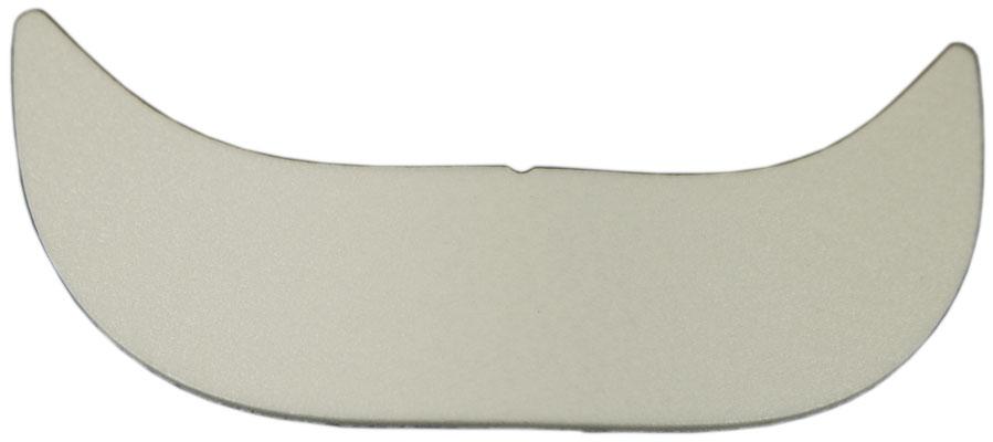 Mützenschirm Einlage, weiß, vorgeformt. Maße ca. 18x5 cm