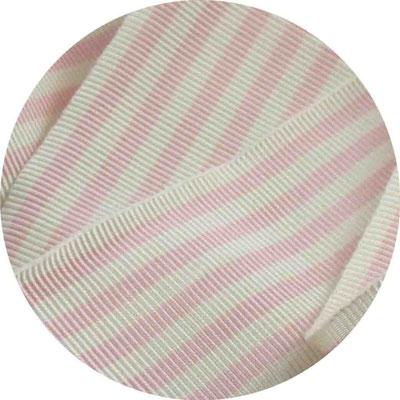 ganz zartes rosa mit offwhite Streifen