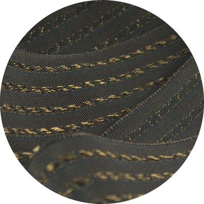 Herrenschmuckband H30; braun mit kupferfarbenenGlänzstreifen