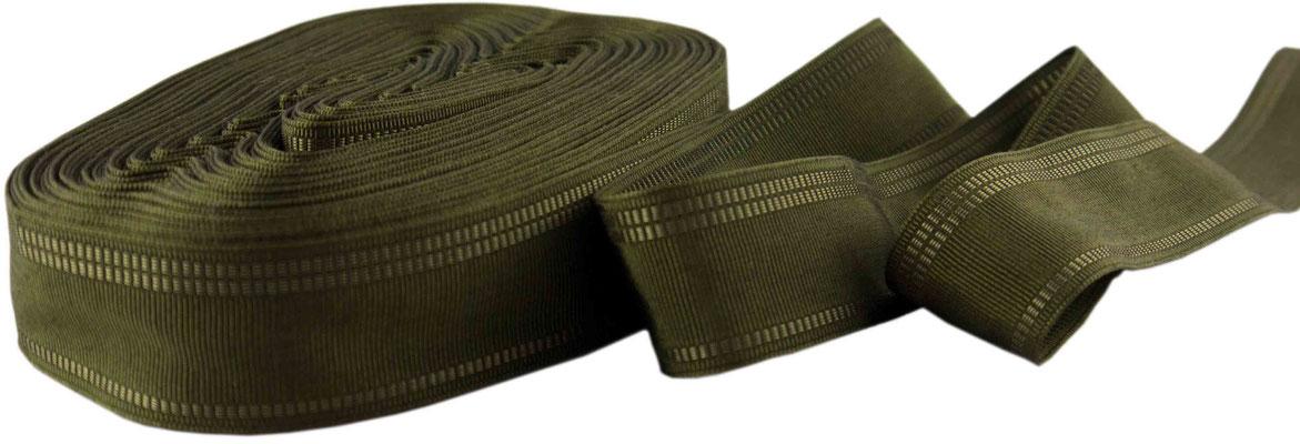 Herrenschmuckband H27; oliv mit glänzenden Seitenstreifen
