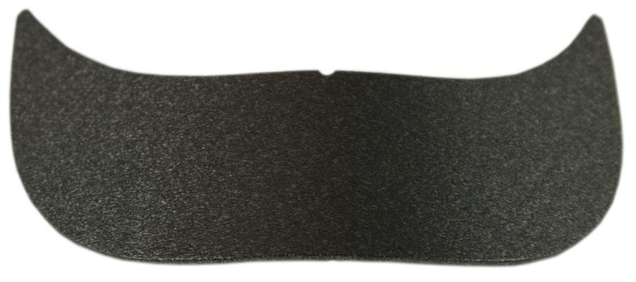 Mützenschirm Einlage, schwarz, vorgeformt. Maße ca. 19x6 cm