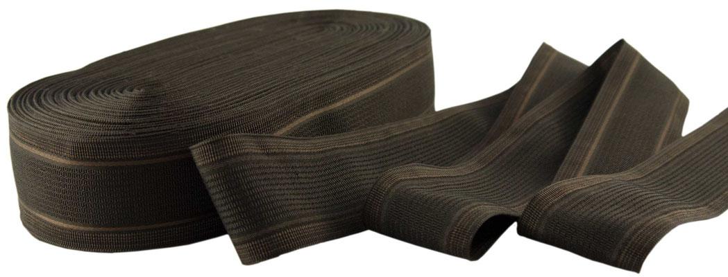 Herrenschmuckband H29; braun mit braunglänzenden Streifen