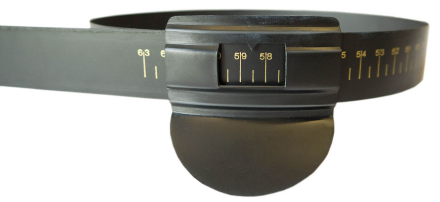 Kopfmaß, schwarz Kunststoff, Größe 48-63