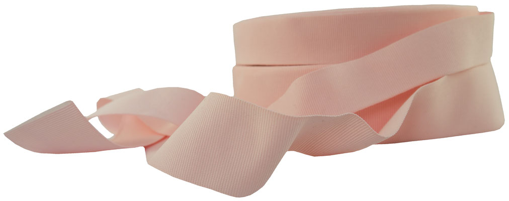 Ripsband no. 31, rosé. 5er und 9er Breite