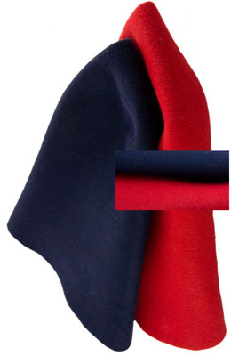 navy - red fur felt cone