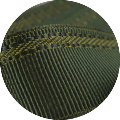 Herrenschmuckband H26; dkl. oliv mit glänzendem Musterstreifen