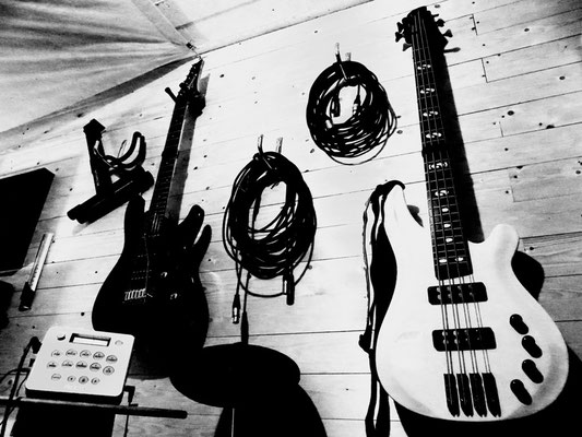Maximilian J. Zemke Homestudio Instrumente Gitarre Guitar Bass