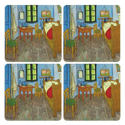 Artikel Nr. 4755 - Schlafzimmer (4 Untersetzer 10 x 10 cm)