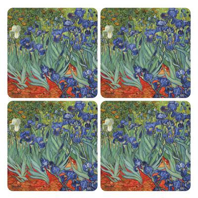 Artikel Nr. 4751 - Iris (4 Untersetzer 10 x 10 cm)