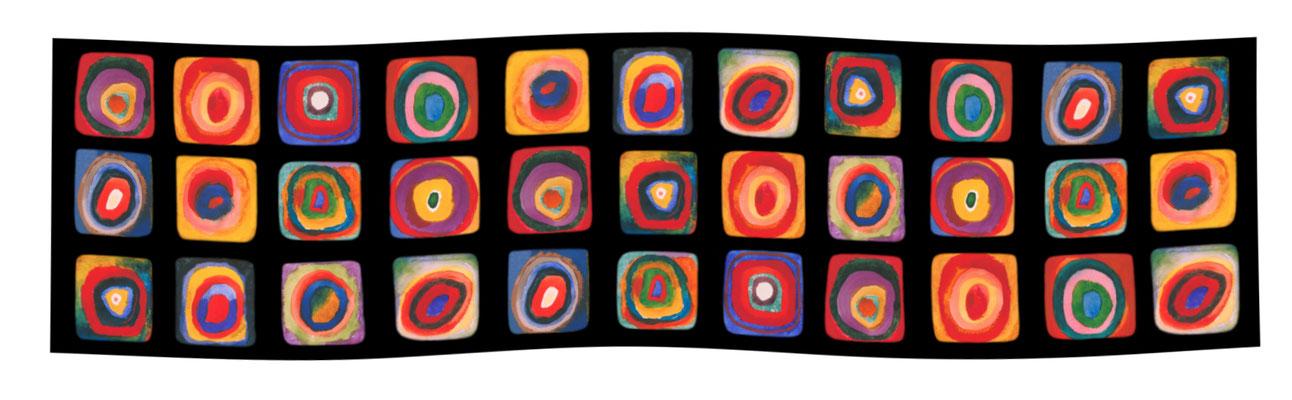 Art.-Nr. 2151 - Farbstudie Quadrate - Kandinsky