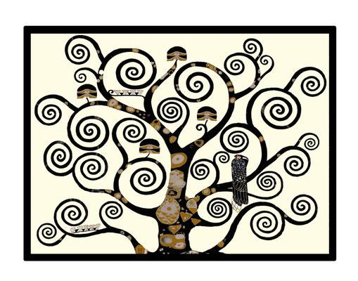 Artikel Nr. 4511 - Lebensbaum ivory (Placemat 45 x 34 cm)