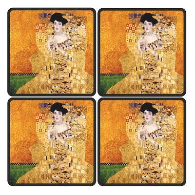 Artikel Nr. 4707 - Adele gold (4 Untersetzer 10 x 10 cm)