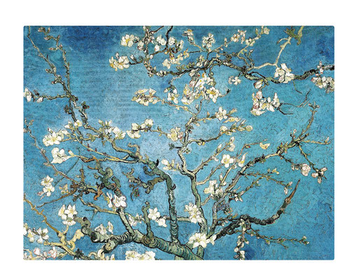 Artikel Nr. 4553 - Mandelbaum blau (Placemat 45 x 34 cm)