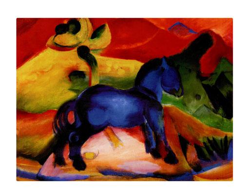 Artikel Nr. 4565 - Blaues Pferd (Placemat 45 x 34 cm)
