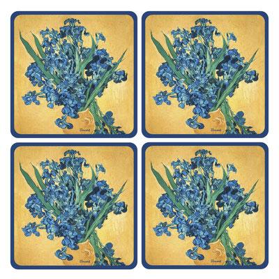 Artikel Nr. 4752 - Iris in Vase (4 Untersetzer 10 x 10 cm)