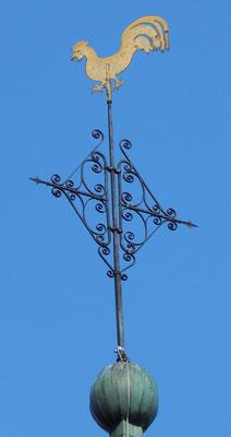 Pluwig. St. Johannes d.T.. Der Wetterhahn (Windrichtungsanzeiger und Blitzableiter)