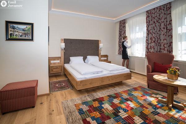 architekturfotografie, innenarchitektur, hotel ,kirchenwirt in wachau, weissenkirchen, zimmer, ruheraum