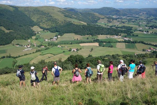 Randonnée au Pays Basque à Ibarrolle
