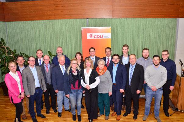 Der gesamte neu gewählte CDU-Kreisvorstand