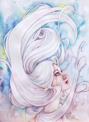 """""""Galaxy"""" Aquarelle sur papier, 60 cm X 80 cm"""