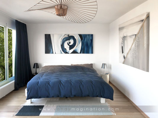 Abstract Collection in Customer's Bedroom